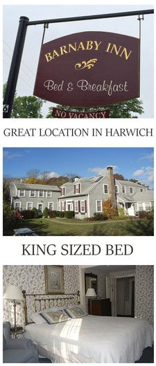 Barnaby Inn, located on Route 28 in Harwich, is offering 35% OFF a 1-night stay in a KING ROOM for two people