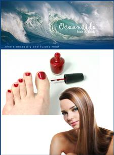 Oceanside Hair & Spa in Brewster is offering a Half Price Color, Blow-dry, Style and Pedicure