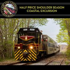 Cape Cod Central Railroad is offering Buy One Ticket, Get One FREE on the Coastal Excursion - Valid Through June 4, 2017 Only