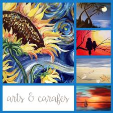 JUST OPENED IN DENNISPORT! Arts and Carafes is offering Half Price Admission to a Paint or Craft Night