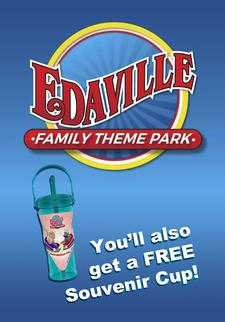 EDAVILLE Family Theme Park in Carver is offering UP TO 47% OFF Admission - INCLUDES Souvenir Cup with Unlimited Refills($14 value)