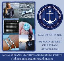Fisherman's Daughter - Eco Boutique and Design Studio on Main Street in Chatham is offering $100 to spend, for only $50