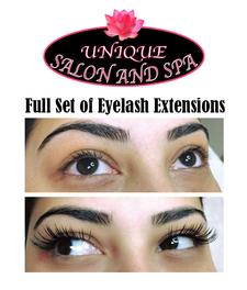 Unique Salon and Spa in Hyannis is offering 40% OFF a Full set of Eyelash extensions with Denise and Maria