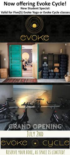 NEW STUDENT SPECIAL: Evoke Yoga and Evoke Cycle in Hyannis is offering 55% OFF a Five(5) Class Card