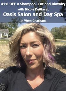 41% OFF a Shampoo, Cut and Blowdry at Oasis Salon and Day Spa in West Chatham