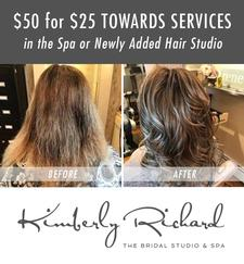 The Bridal Studio and Spa in Sandwich is offering $50 towards Spa and Salon services, for only $25