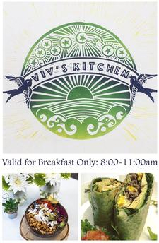 Viv's Kitchen in Orleans is offering $10 to spend, for only $5 | Valid for Breakfast only: 8:00am-11:00am
