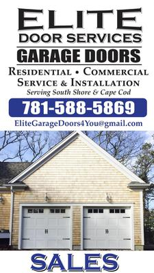 Spend $100 to receive $200 OFF of ANY garage door purchase with Elite Door Services in Pocasset