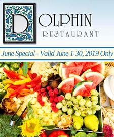 The Dolphin Restaurant in Barnstable Village is offering $50 towards food for only $25 (Valid June 1-30, 2019 Only)