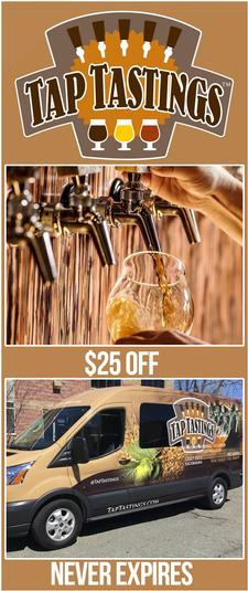 TapTastings is offering $25 OFF any Public or Private Craft Beer Tasting Excursion
