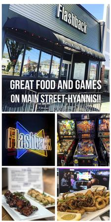 Flashback Retro Arcade | Bar & Grill on Main Street-Hyannis: $25 towards food, for only $12.50