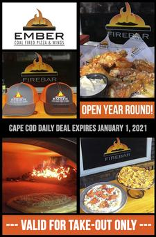 Ember Coal Fired Pizza and Wings in Harwich: Get $25 towards Take-Out for only $15