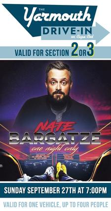 NEXT SUNDAY: 20% OFF Nate Bargatze Tickets | The Yarmouth Drive-In | Sunday September 27th at 7pm