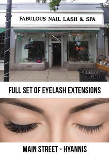 EYELASH EXTENSIONS: Fabulous Nail, Lash and Spa on Main Street in Hyannis: 35% OFF a Set of Full Eyelash Extensions