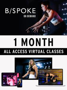 EXERCISE AT HOME!!  B/SPOKE On Demand is offering 22% OFF ONE-MONTH of All Access Virtual Classes