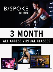 EXERCISE AT HOME!! B/SPOKE On Demand is offering 29% OFF THREE-MONTHS of All Access Virtual Classes