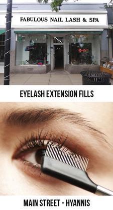EYELASH EXTENSION FILLS: Fabulous Nail, Lash and Spa on Main Street in Hyannis: 38% OFF Eyelash Extension Fills
