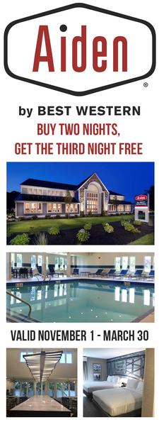Aiden by Best Western on Route 28 in West Yarmouth: Stay Two Nights, Get the Third Night FREE