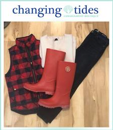 Changing Tides Consignment Boutique in Chatham is offering $25 to spend, for only $12.50