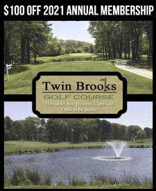 $100 OFF - 2021 Annual Golf Membership at Twin Brooks Golf Course in Hyannis  - INCLUDES LIFETIME RATE LOCK