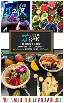 J Bar in Harwich Port is offering $10 to Feed Yourself Healthy, for only $5