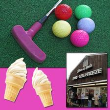 Steve & Sue's Par-Tee Freeze/Lightning Falls Adventure Golf on West Main Street in Hyannis is offering Half Price Mini-Golf and Small Soft-Serve Ice Cream Cones